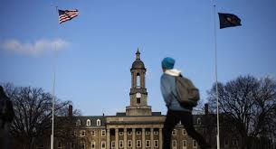 pc liberals devour their own magazine a students walks in front of the old main building on the penn state campus friday