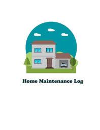 Home Maintenance Log Repairs And Maintenance Record Log Book Sheet