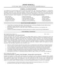 Project Superintendent Resume Thrifdecorblog Com