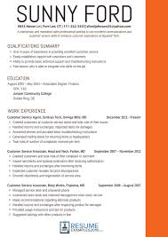 Professional Customer Service Resume Free For Download Effective