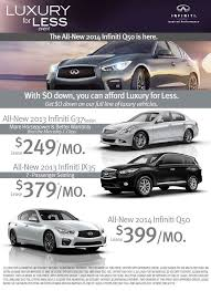 infiniti luxury for less event
