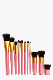 boohoo 11 piece make up brush set