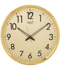 ajanta wall clock 32 cm x 32 cm x 2 cm golden