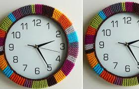 how to easy knit clock frame knitted clock with bursting colors will surely add a fun and interesting note in your home all you have to do is to check