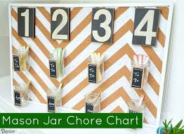 Chore Chart With Mason Jars Live Craft Love