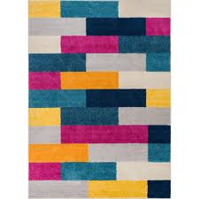 well woven mystic tribeca multi 3 ft x 5 ft abstract bold color blocks