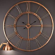 large metal wall clock art