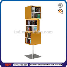 Wooden Book Stand For Display Tsdw100 Custom Retail Shop Floor Rotating Wooden Book Display 42