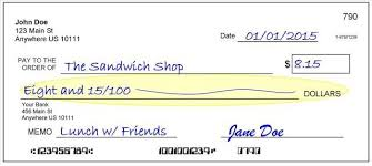 Learn How To Write A Check Personal Finance Made Easy Banking