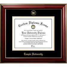 temple university clic diploma frame