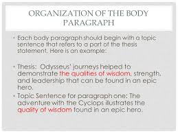 the body paragraphs writing the gateway essay the body paragraphs  5 organization