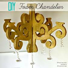 how to make foam chandelier giveaway