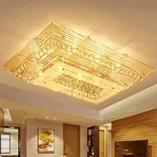 dramatic e12 e14 rectangular luxury shaped crystal flush mount ceiling lights