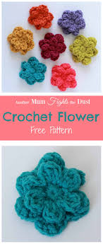 Easy Crochet Flower Patterns Free Beauteous Crochet Flower Pattern Another Mum Fights The Dust