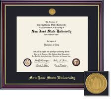 diploma frames spartan bookstore sjsu bookstore framing success windsor medallion double diploma frame matted in high gloss cherry finish