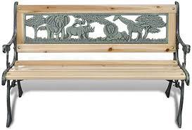 Anself Home <b>Garden Bench</b> for <b>Children</b> Animal Pattern Outdoor ...
