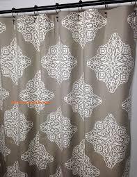 custom fabric shower curtain damask taupe ivory 72 x 84 108 54 x 78 stall shower curtain long shower curtain extra wide shower curtain