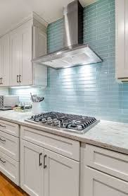 kitchen backsplash blue subway tile. The Reflective Quality Of This Kitchen\u0027s Blue Glass Tile Backsplash Is A Perfect Compliment To Crisp Sophistication Its Stainless Steel High-end Kitchen Subway I