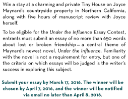 under the influence sweepstakes