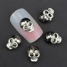Nail Art Skull Design Amazon Com 10 Pc 3d Skull Nail Art Rhinestone Black Alloy