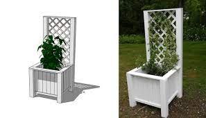 planter box with trellis ana white
