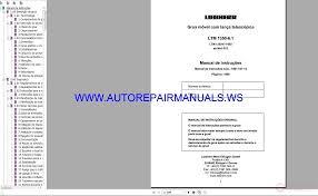 Liebherr Ltm Cranes All Models Full Shop Manual Dvd Auto