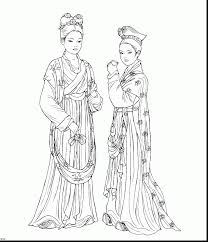 Small Picture Chinese Girl Coloring Pages Coloring Pages