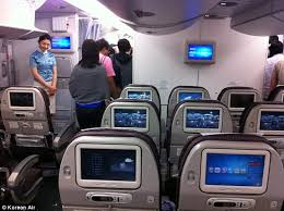 Improvements Korean Air economy class was praised for its clean cabins and  generous legroom