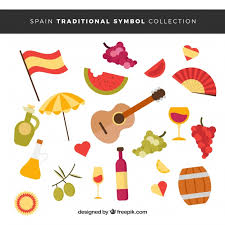 Traditional Symbols Collection Of Traditional Spanish Symbols Vector Free Download