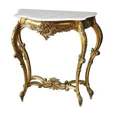 gold console table. Versailles Small Console Table With Marble Top Gold
