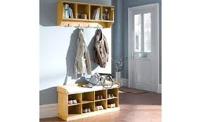 Coat Hanger And Shoe Rack Delectable Shoe Storage With Coat Hanger Coat Racks Bench With Shoe Storage