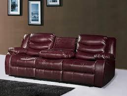 meridian furniture gramercy burdy bonded leather dual reclining sofa drop down console