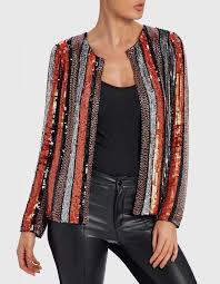 nixon multi colour striped orange jacket