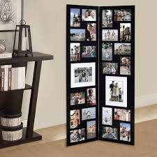 adeco decorative black wood folding floor standing collage picture photo frame hinged 26 openings 4x6