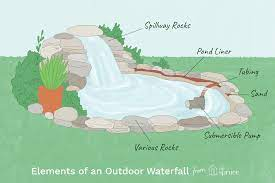 to build outdoor waterfalls inexpensively