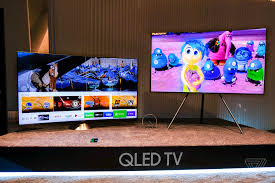 samsung tv 2017. samsung\u0027s qled tvs can be used with an easel-like stand or a metal \u201cgravity stand.\u201d samsung tv 2017 g