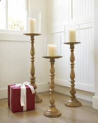 wooden floor candle holders balsam hill
