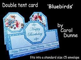 Double Tent Cards Blue Birds