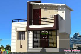 1400 sq ft contemporary house in small plot