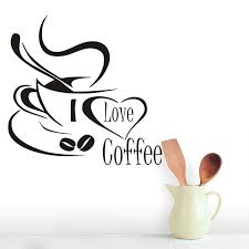 Browse millions of popular aesthetic wallpapers and ringtones on zedge and personalize your. I Love Coffee Cup Wall Art Decals For Kitchen Restaurant Coffee Shop Removable Wallpaper Art Mural Vinyl Wall Sticker Home Decor Wall Stickers Aliexpress
