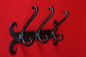 Wrought Iron Wall Coat Rack Adorable Wrought Iron Wall Hooks Hand Forged Wall Hook Coat Rack Coat Hook