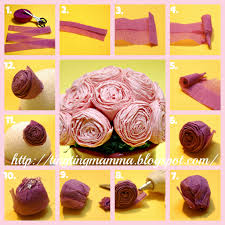 Making Flower Using Crepe Paper Tingtingmamma Tutorial Crepe Paper Rose Bouquet