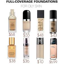 full coverage foundations for oily skin