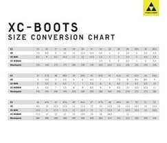 Fischer Size Chart Xc Boots Size Conversion Chart By Fischer Sports Gmbh