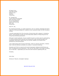 Examples Of Resume Cover Letter Resume Cover Letter Graduate Cover Letter Example Of A New 85