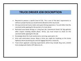 job description truck driver resume best truck driver resume sample job description of truck driver