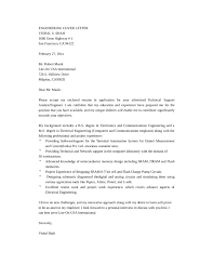 Gallery Of Customer Support Engineer Cover Letter Letter Format Word