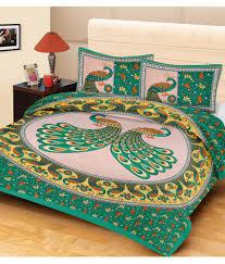 Metro Living Double Cotton Multi Animal Bed Sheet ...