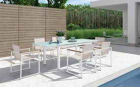 innovative extendable patio table 7pcsantorini 2jpg teak outdoor patio dining table sets blabberboxco patio design pictures