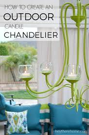 diy outdoor candle chandelier